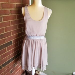 Lucca Couture Pale Pink Dress Sleeveless  SZ M EUC